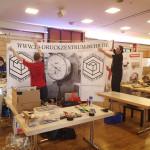 Der Aufbau in Hannover, Niedersachsenhalle Stand 11